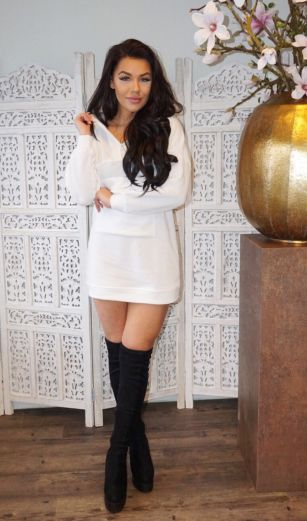 Tech Sweater White