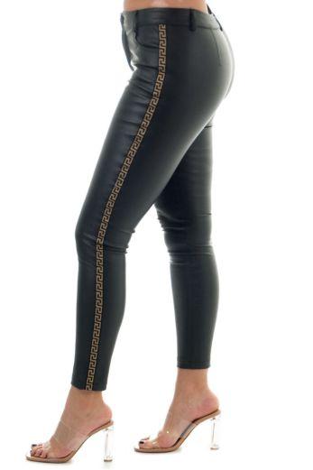 Eve Fenti Leather Pants Black Side
