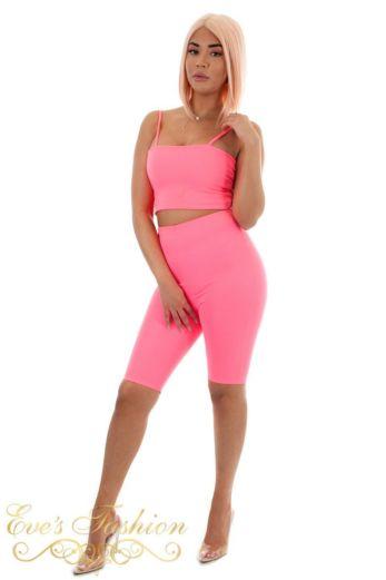 High Waist Cycling Shorts Pink