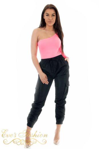 Off Shoulder Bodysuit Pink