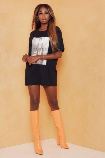 Eve Queen B Tee Black Front