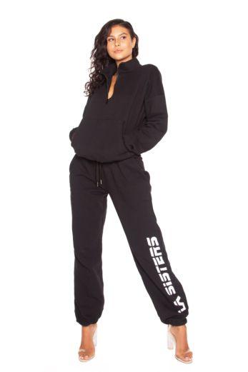 LA Sisters Basic LA Pocket Sweater Front