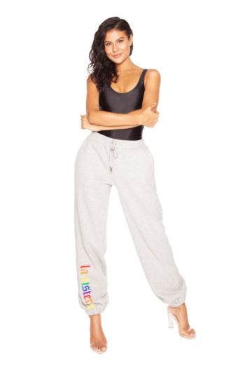 LA Sisters Rainbow Sweatpants Grey Front