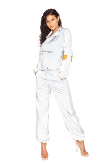 LA Sisters Hologram Shell Tracksuit Silver Front
