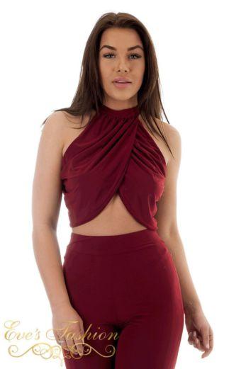 Jamila Flair Two Piece Burgundy