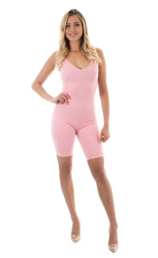 Hayden Cycling Playsuit Pink
