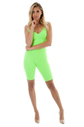 Hayden Cycling Playsuit Neon Green