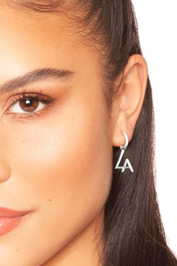 LA Tiny Hoop Earrings Silver