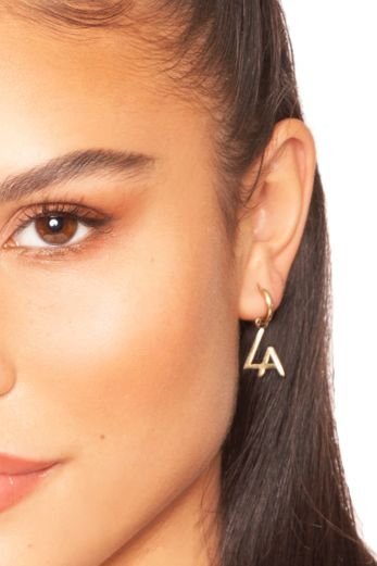 LA Tiny Hoop Earrings Gold