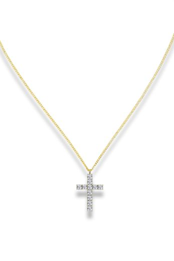 LA Sisters Strass Cross Necklace Product