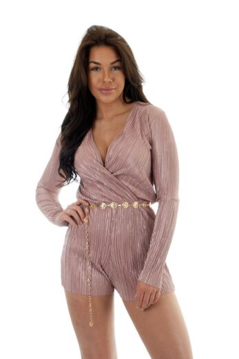 Selene Glam Playsuit Pink