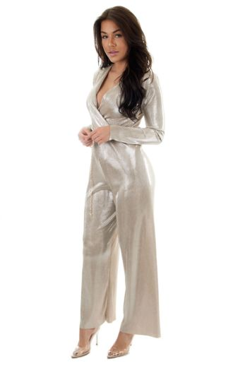 Selene Glam Jumpsuit Gold