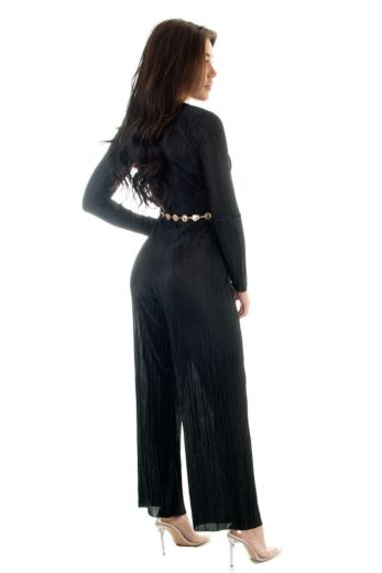 Selene Glam Jumpsuit Black