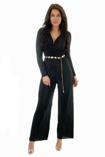 Eve Selene Glam Jumpsuit Black Front
