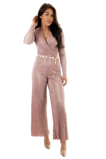 Eve Selene Glam Jumpsuit Pink front