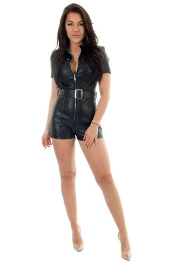 Rylee Leather Playsuit