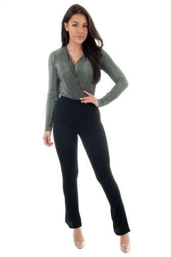 Selene Glam Bodysuit Khaki
