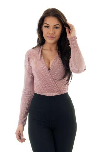 Eve Selene Glam Bodysuit Pink Close