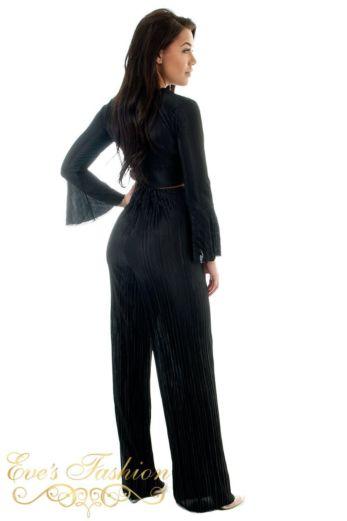 Selene Glam Flare Pants Black