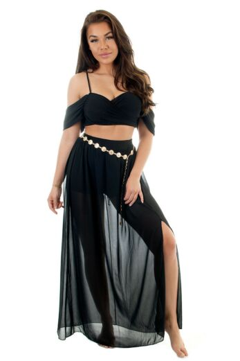 Eve Jamila Flair Two Piece Black Front