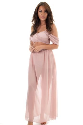 Eve Fab Blossom Two Piece Pink Front