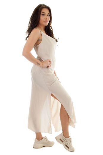Sabrina Satin Dress Champagne