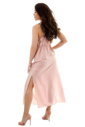 Sabrina Satin Dress Pink