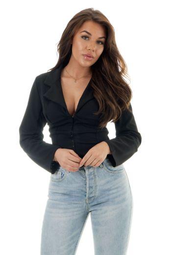 Eve Rania One Sleeve Crop Top Close