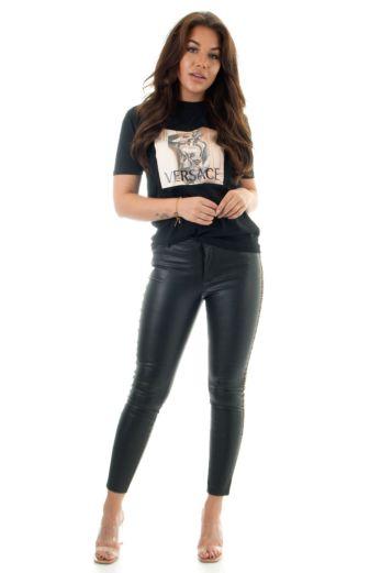Fenti Leather Pants Black
