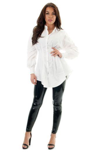 Yaelin Bustier Blouse Dress White