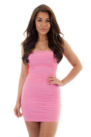 Eve Marilon Mesh Dress Lila Close