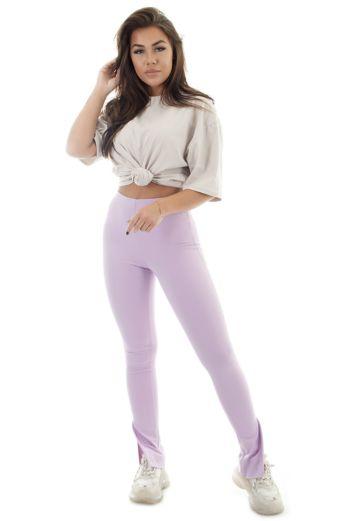 Milana Split Pants Lila