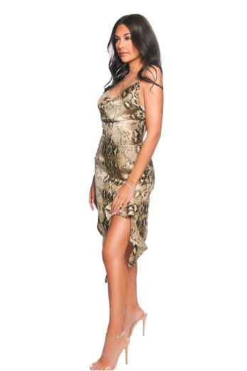 Snake Draped Dress