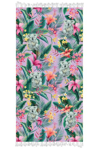 Tropical Koala Beachtowel