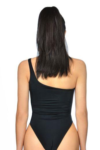 Cut Out Swimsuit Black