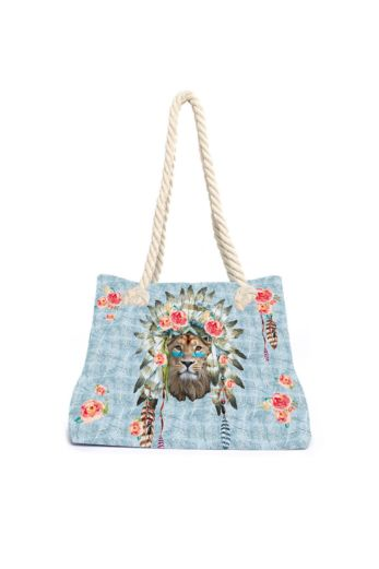 Aqua Licious Lion Beach Bag