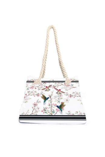 Aqua Licious Apple Blosom Beach Bag