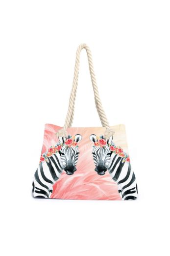 Zebra Boho Beach Bag