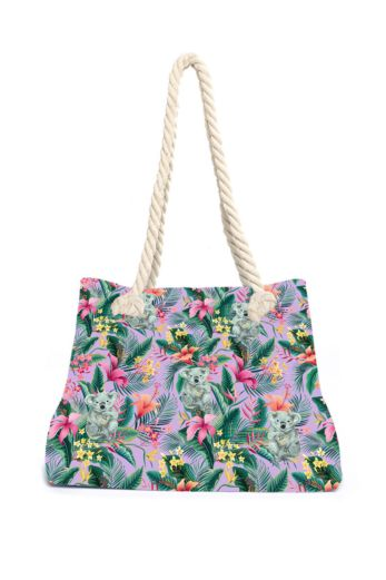Tropical Koala Beach Bag