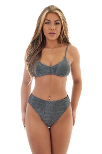 Sydney Bikini 3 Piece Black Silver