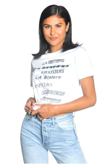 LA Multi Logo Tee White
