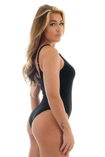 Paris One Piece Swimsuit Black