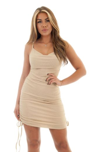 Kylie Dress Light Beige Gold