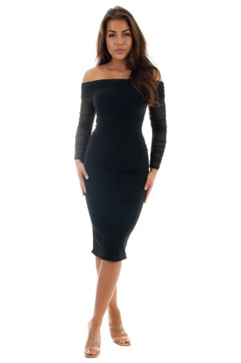 Eve Delilah Ruffle Two Piece Black