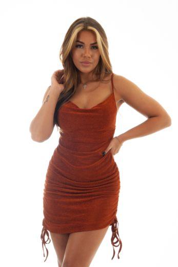 Unique the Label Kylie Dress Rust Front