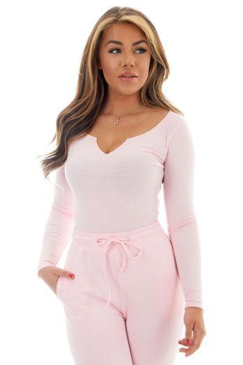Unique the Label Kim Body Pink Close