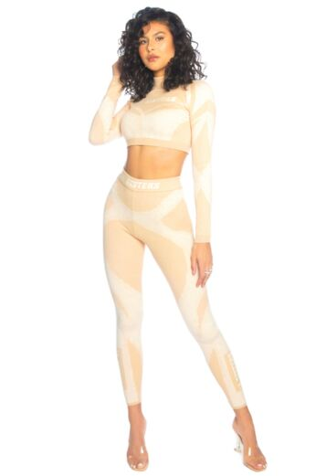 Knitted Sporty Two Piece Beige