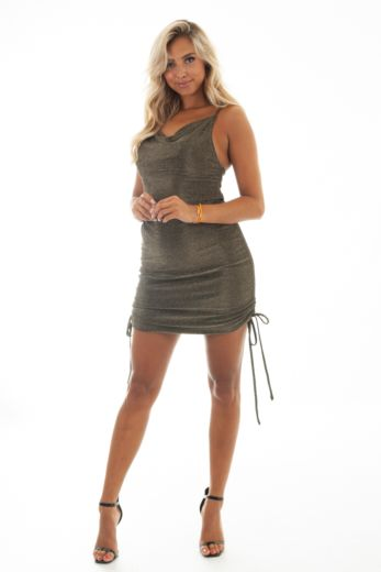 Unique the Label Kylie Dress Gold Black Front