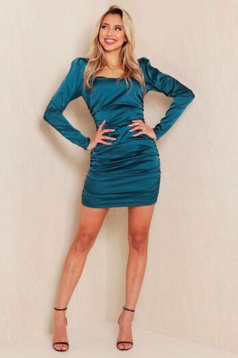 Unique the Label Ava Dress Emerald Front