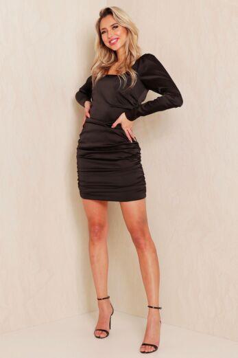 Unique the Label Ava Dress Black Front